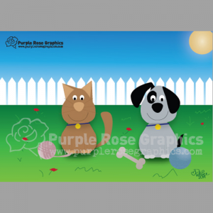 custom animal note cards