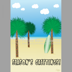 Beach note card