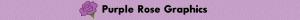 Purple Rose Graphics Banner