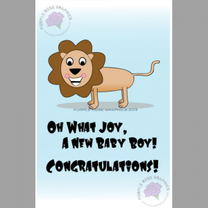 Custom baby greeting cards