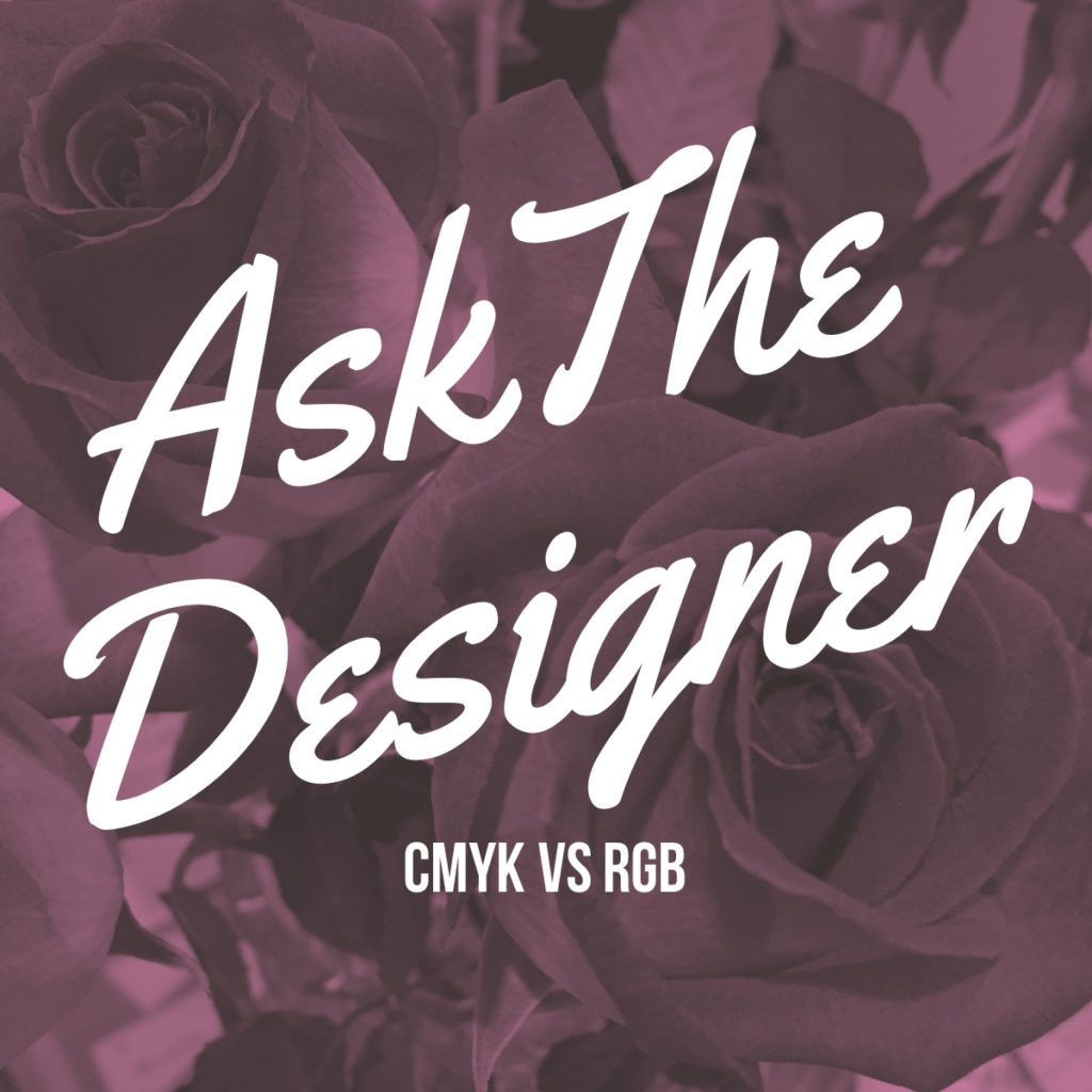 """Ask The Designer"" graphic"