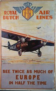 Old Poster with an Airplane