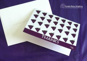 Thanks a Bunch! Grape Themed Thank You Card