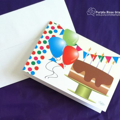 Chocolate Cake Birthday Card