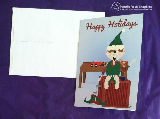 Santa's Elf Holiday Card