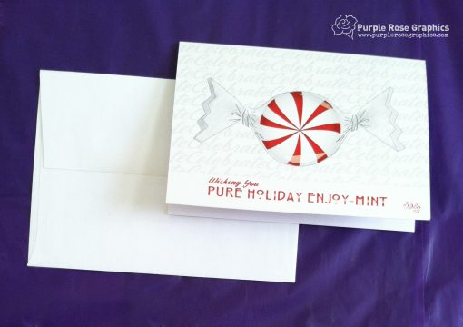 Holiday Enjoy-Mint Holiday Card