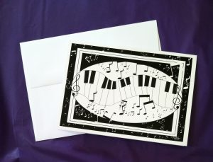 Piano Keys Music Card