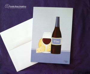 Red Wine Card