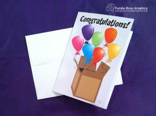 Balloons Congrats Card
