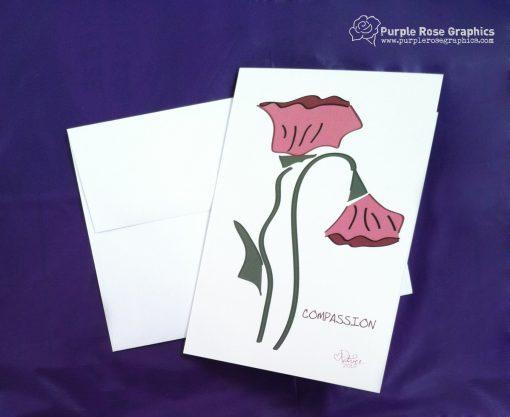 Compassion Flower Sympathy Card