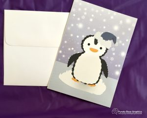 Winter Penguin Card