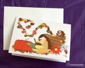 Autumn Cornucopia Card