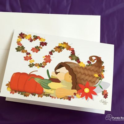 Autumn Cornucopia Card