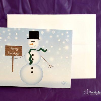 Holiday Snowman Card
