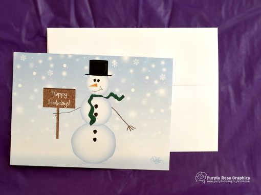 Holiday Snowman Card