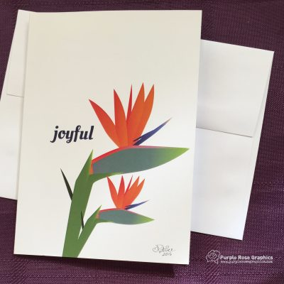 Joyful Bird-of-Paradise Card