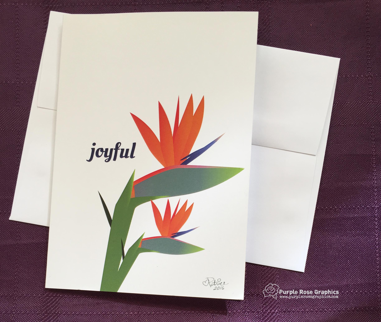Joyful Bird-of-Paradise Card