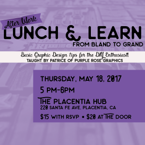 After Work Lunch & Learn Workshop on May 18