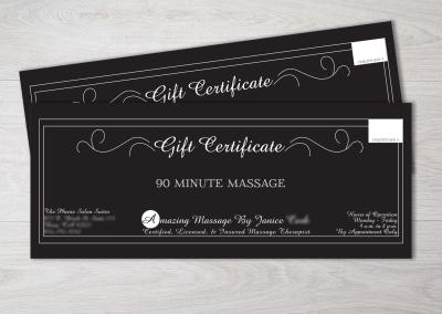 Branded Gift Certificates