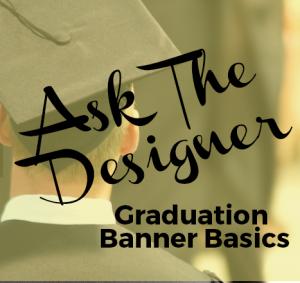 Graphic with Graduate's cap