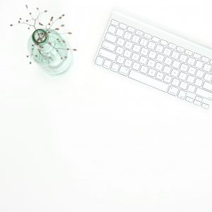 Keyboard and Flower