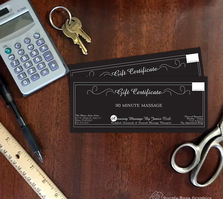 Branded Gift Certificates