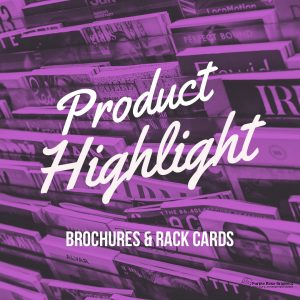 product highlight-brochure, rack card