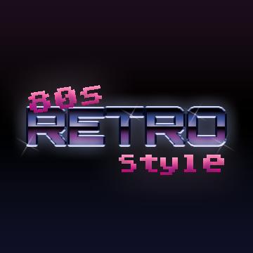 1980s Style Chrome Type