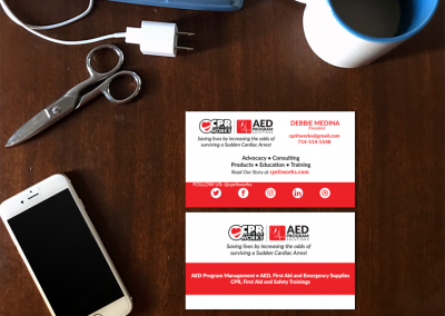 Healthcare Company Business Cards