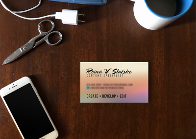 Content Creator Business Card Design