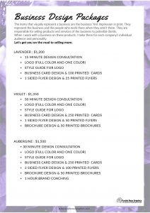 Business Design Packages by Purple Rose Graphics