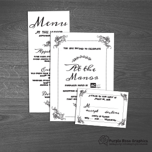 Invitation Suite created by Purple Rose Graphics