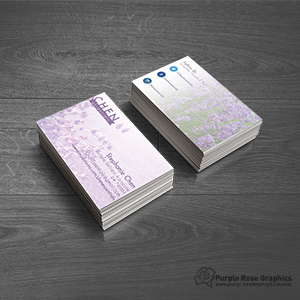 Business Card created by Purple Rose Graphics For Local Business