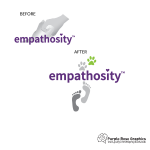 Before and After Logo Design for Empathosity created by Purple Rose Graphics in Orange County California